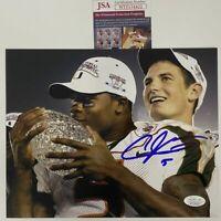 Autographed/Signed ANDRE JOHNSON Miami Hurricanes 8x10 College Photo JSA COA