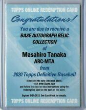 Masahiro Tanaka Auto Relic 2020 Topps Definitive GU Patch Redemption NY Yankees