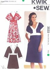 Women's Summer Tunic Dress Sewing Pattern UNCUT Size S M L XL