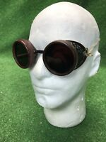 Vtg Steampunk Goggles Duraweld Vintage - Antique Motorcycle goggles Burning Man