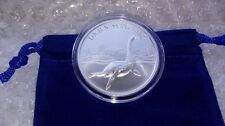 High Relief LOCH NESS MONSTER 1 oz Fine Silver  w/Capsule & Coin Pouch