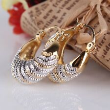 Unique Impressive Charms Gold Filled Two Tone Wedding Dangle Earrings For Women