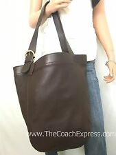 COACH XL Vintage Brown Leather Soho Carryall Shoulder Tote #4082
