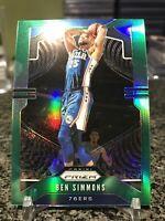2019-20 Prizm #198 Ben Simmons Green Prizms Refractor Parallel SP 76ers!!!