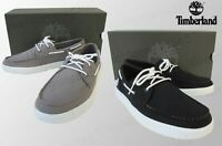 Timberland Men Bayham Canvas Oxfords Moccasin Loafer Black Grey UK7 to UK11.5