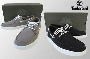 Timberland Men Bayham Canvas Oxfords Moccasin Loafer Black Grey UK7 to UK11.5