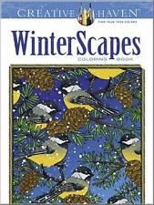 ADULT COLORING BOOK ~ WINTER SCAPES ~ REMOVEABLE PAGES 4 FRAMING ~ NEW