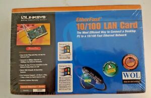 LINKSYS ETHERFAST 10/100 LAN CARD NETWORK COMPLETE NEW