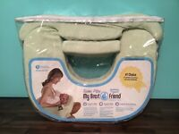 NEW My Brest Friend PLUS Size Nursing Breast Feeding Pillow for Twins green