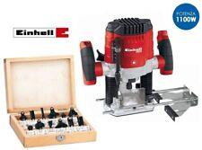 Fresatrice verticale 1100W con set 12 frese in box di legno Einhell - BT-RO 1100