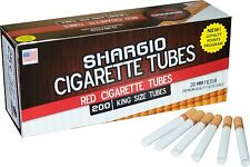 Shargio Red Full Flavor King Size KS Cigarette Filter Tubes 5 Boxes (1000 Tubes)