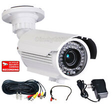 Security Camera 42 IR LEDs Outdoor 700TVL w/ SONY Effio CCD Audio Mic Cable a52