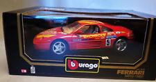 6750:Bburago Ferrari 348tb,1989,1:18,rot Nr.5,Pinifarina.,Mod.:3039,in OVP.