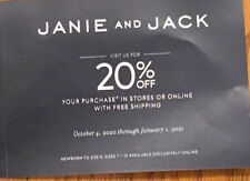 JANIE & JACK COUPON code 20% off Entire Purchase - Expires January 31, 2021
