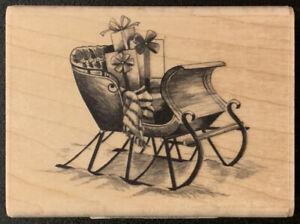 Inkadinkado Winter Sleigh Christmas Presents Rubber Stamp
