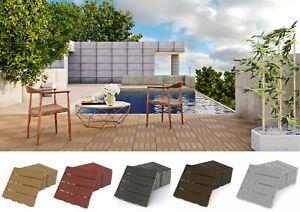 Klickfliese Balkonfliesen Terrassen Bodenbelag Witterungsbeständig 8 Stück PP