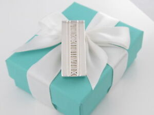 Tiffany & Co Silver Double Atlas Money Clip Box Included