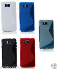 Pellicola + Custodia WAVE Cover S Line per Samsung Galaxy Alpha G850F Gomma TPU