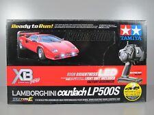 New Tamiya #57780 1/10 RC Red Lamborghini Countach XB TT-01E Expert Built