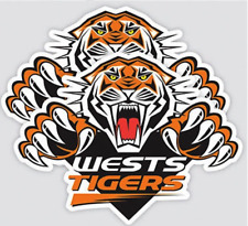 Wests Tigers NRL LOGO Car Sticker Stickers Sheet Window Birthday Man Cave Gift