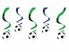 "24"" Football Soccer Birthday Party Hanging Foil Swirl Decorations Decs 5pk"