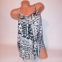Cupio Tank Top Womens Tank Top Small Black White Beaded