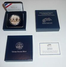 2010 American Veterans Disabled Life Silver Proof Dollar, Box, COA, West Point