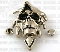 DIY  exaggerate  skeleton skull head rivets, clothing rivets, leather crafts