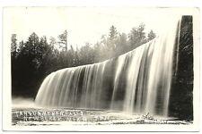 Rppc Tahquameno Falls Near Newberry Michigan 1925 ~ Upper Falls