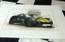 Lotus elise sc type 25 jim clark 2008 new painting print art chris dugan limited