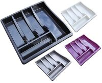 Large Plastic Cutlery Holder Drawer Tray Kitchen Organiser Tidy For Storage Rack