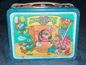 VINTAGE 1985 HENSON MUPPET BABIES METAL LUNCH BOX