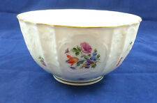 18th Century Meissen Dulong Relief Floral Slop or Waste Bowl c. 1750