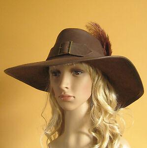 Medieval Celtic Renaissance Pirate Hat SCA Larp Leather Adventuress Hat Women