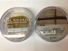4 X L'Oreal Bare Naturale Gentle Mineral Face Powder LIGHT IVORY #410 New.