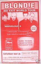 Blondie 2000 San Diego Concert Tour Poster - Debbie Harry, 80'S New Wave Music!