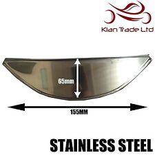 "Large Stainless Steel 7"" Motorcycle Headlamp Visor Head Light Peak"