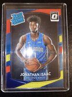Jonathan Isaac 2017-18 Optic Rated Rookie Red & Yellow #195. Orlando Magic.