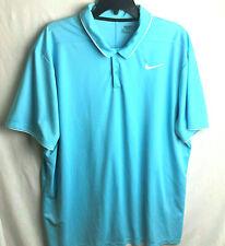 Nike Golf Dri-Fit Essential Polo Shirt Mens Xxl 2Xl Blue Standard Fit S/S