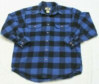 Field & Stream Blue Dress Shirt Cotton Long Sleeve Man Button Up XL Extra Large