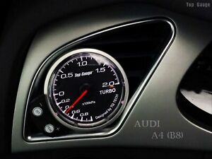 52mm or 60mm Boost Gauge (no wire cutting) with free gauge pod fits Audi A4 B8