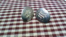 Vintage Silver Metal Scroll Screw Earrings