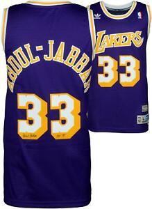 Kareem Abdul-Jabbar Lakers Signed Purple Jersey with Insc - Fanatics