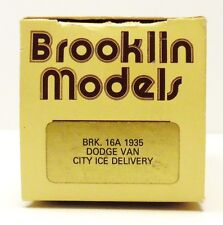 """BROOKLIN 1935 DODGE VAN """"CITY ICE DELIVERY"""" BRK. 16 A  ( EMPTY BOX ONLY )"""