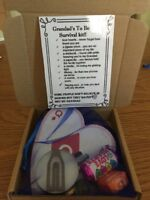 Grandad's To Be Survival Kit(fun handmade Gift)in A Cute 🍕 Box*
