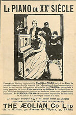 PIANOLA PIANO THE AEOLIAN COMPANY AVENUE OPERA PARIS PUBLICITE 1910
