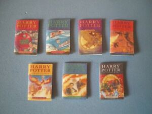 Dolls House miniatures accessories - HARRY POTTER books x 7