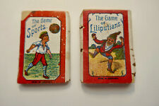 TWO Antique MINATURE CARD GAMES Made in Germany for the British Market ca. 1900