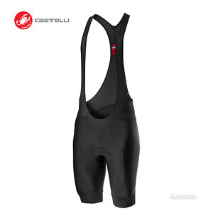 NEW 2021 Castelli ENTRATA Cycling Bib Shorts : BLACK