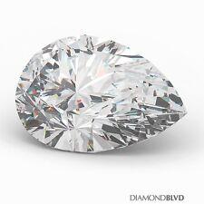 0.96 Carat I/VVS2/V.Good Cut Pear Shape AGI Earth Mined Diamond 7.88x5.44x3.66mm